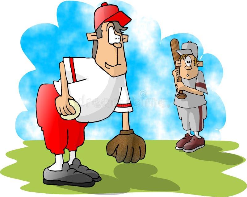 Download Liga júnior ilustração stock. Ilustração de batter, criança - 50835