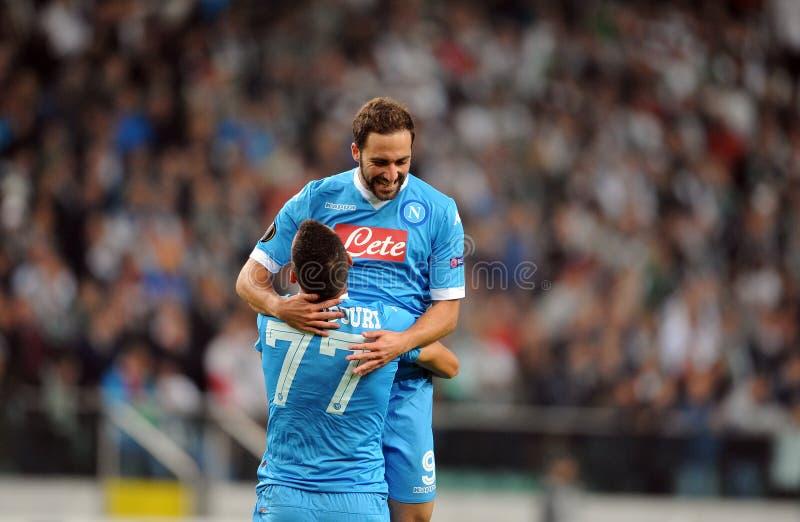 Liga Legia Varsóvia SSC Napoli do Europa do UEFA fotos de stock royalty free