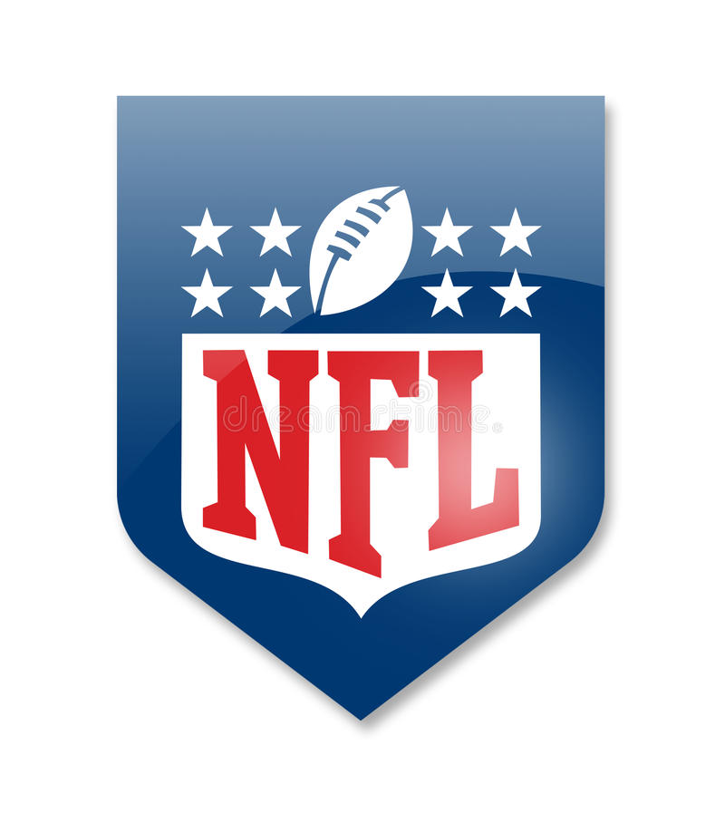 Liga Nacional de Futebol Americano ilustração stock