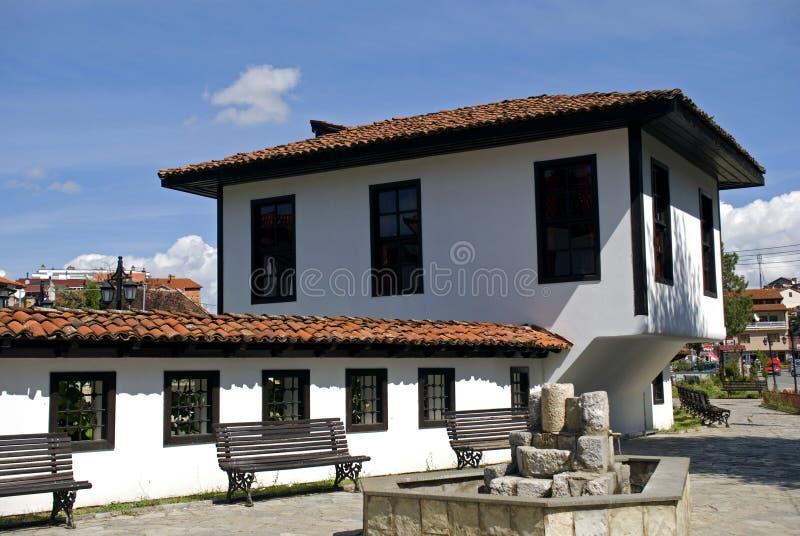 Liga van Prizren-Huis, Prizren, Kosovo stock foto