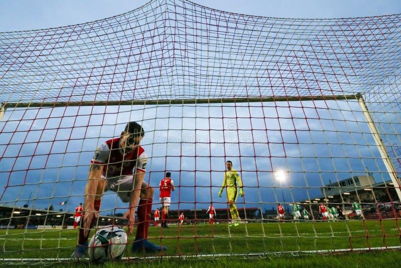 Liga von Match Irland-Premiers Division zwischen Cork City FC gegen St Patrick athletisches FC stockfotografie
