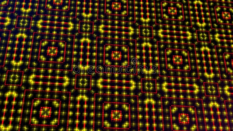 Ligero animado shinning puntos rojos y amarillos y formas de las estrellas stock de ilustración