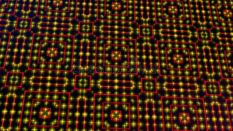 Ligero animado shinning puntos rojos y amarillos y formas de las estrellas libre illustration