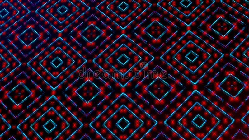 Ligero animado shinning puntos rojos y azules y formas de las estrellas libre illustration