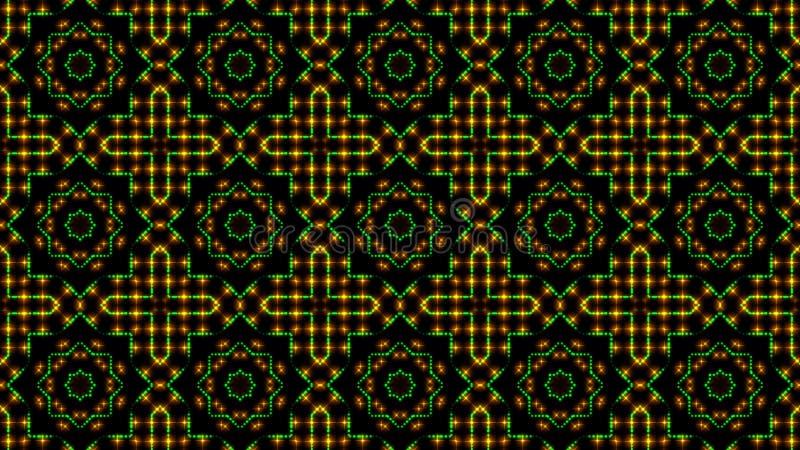 Ligero animado shinning puntos verdes y anaranjados y formas de las estrellas libre illustration