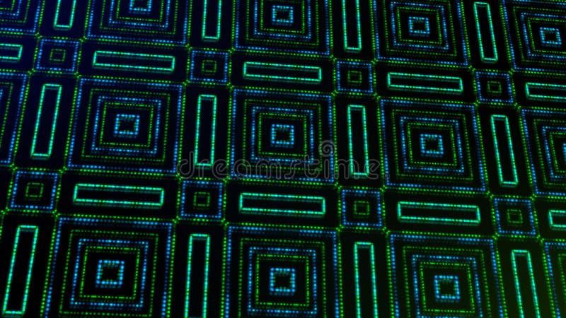 Ligero animado shinning puntos verdes y azules y formas de las estrellas libre illustration