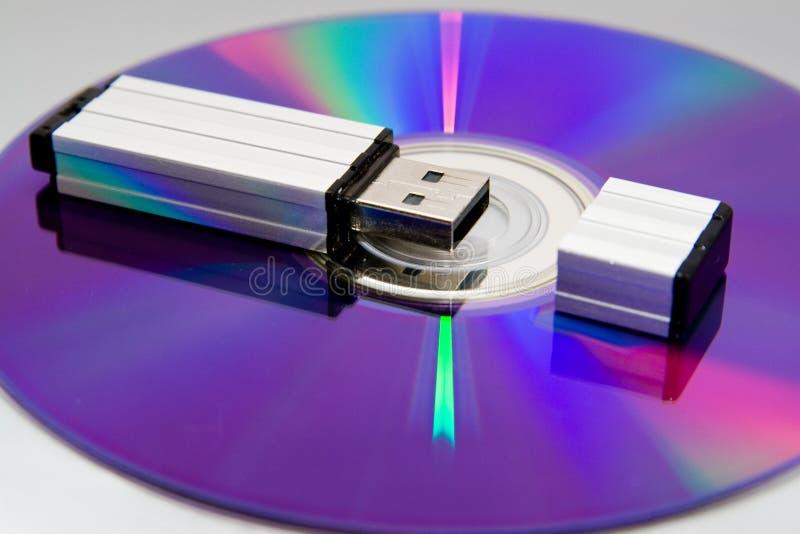 ligga för kortdiskexponering arkivfoto