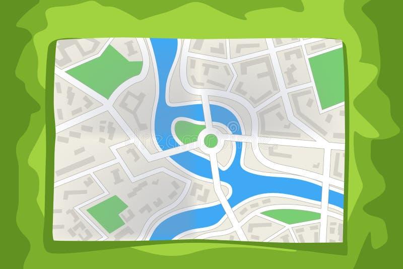 Ligga för stadsöversikt royaltyfri illustrationer
