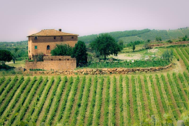 liggande typiska tuscan arkivbilder