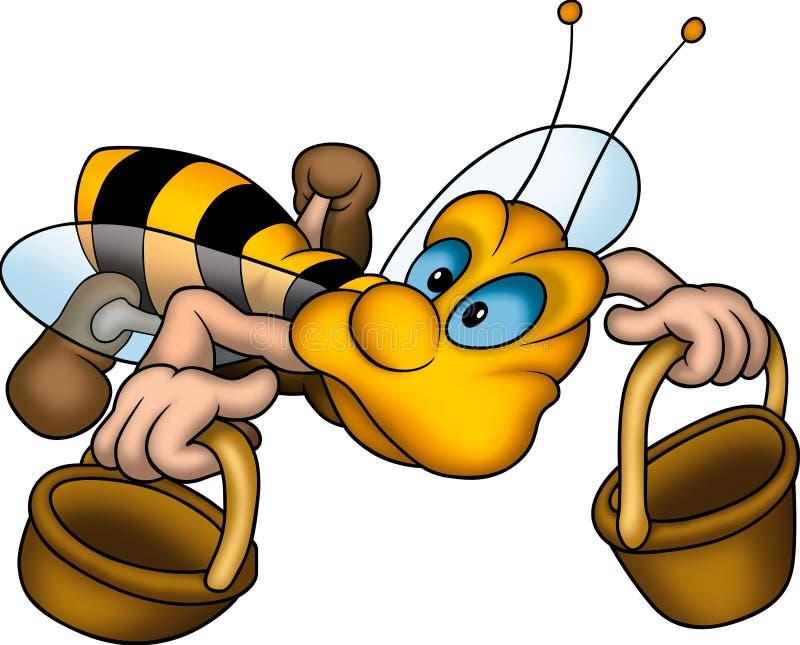 liggande wasp för korgar stock illustrationer