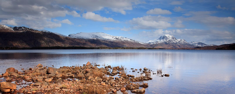 liggandefjordmaree royaltyfria bilder