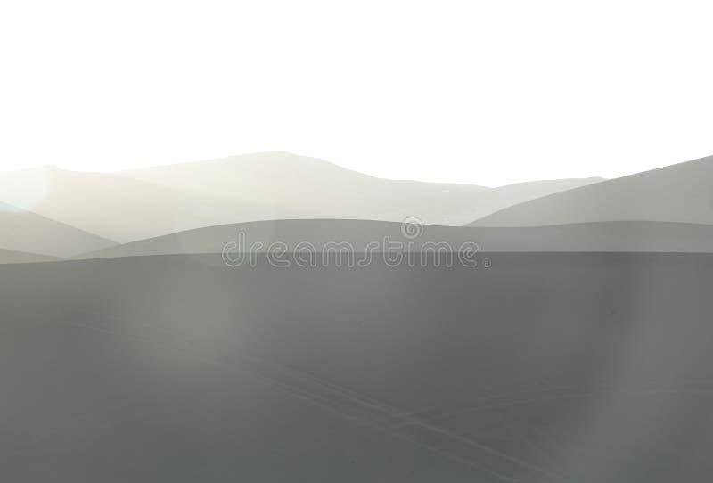 liggandesoluppgång för öken 3d royaltyfri foto