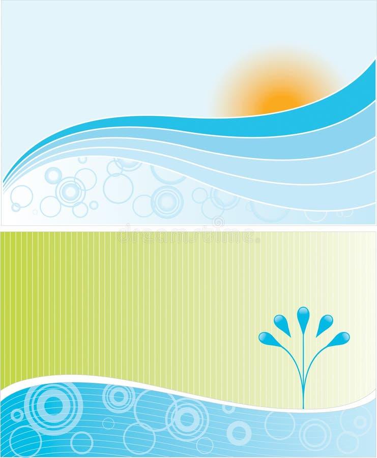 liggandevatten stock illustrationer
