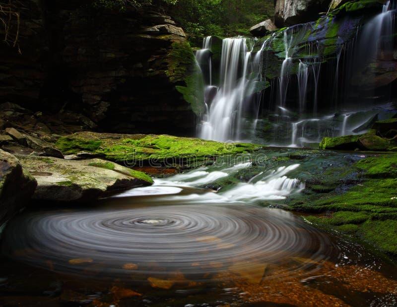 liggandevattenfall fotografering för bildbyråer