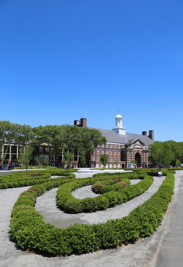 Liggett Hall na gubernator wyspie w Nowy Jork schronieniu obraz royalty free