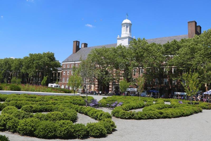 Liggett Hall na gubernator wyspie w Nowy Jork schronieniu obraz stock