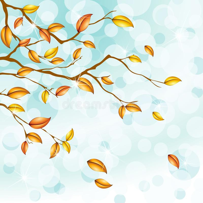 Download Ligh Blue Autumn Background With Transparencies Stock Images - Image: 19677174