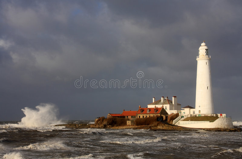 Lighhouse della st Mary fotografia stock