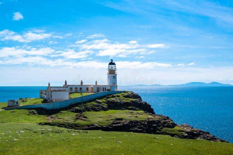 Lighhouse no ponto Neist, Escócia fotos de stock
