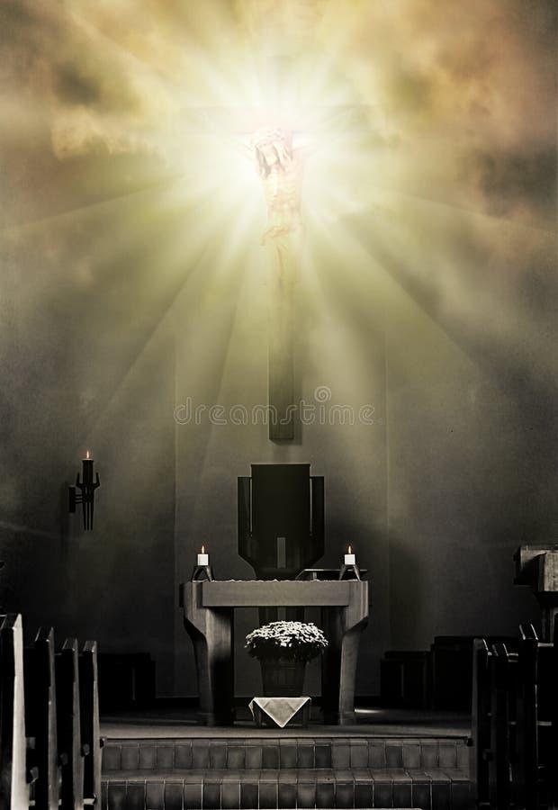 Download The light stock illustration. Illustration of altar, clouds - 22060324