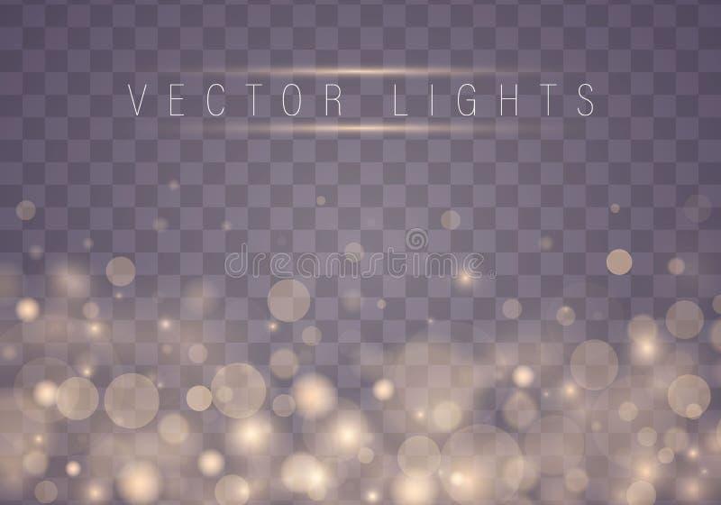 Light abstract bokeh vector illustration