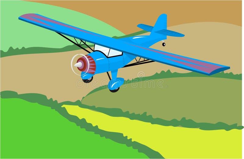 Download Light Aircraft stock vector. Illustration of aeroplane, altitude - 73642
