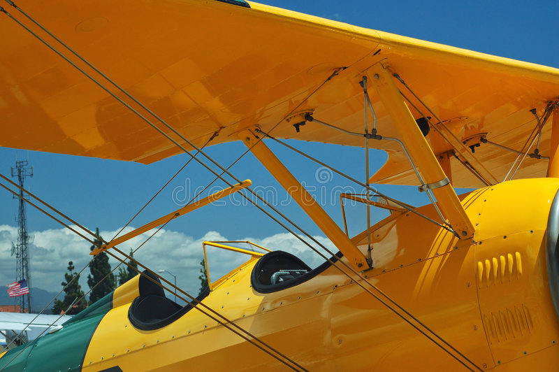 Light aircraft cockpit stock images