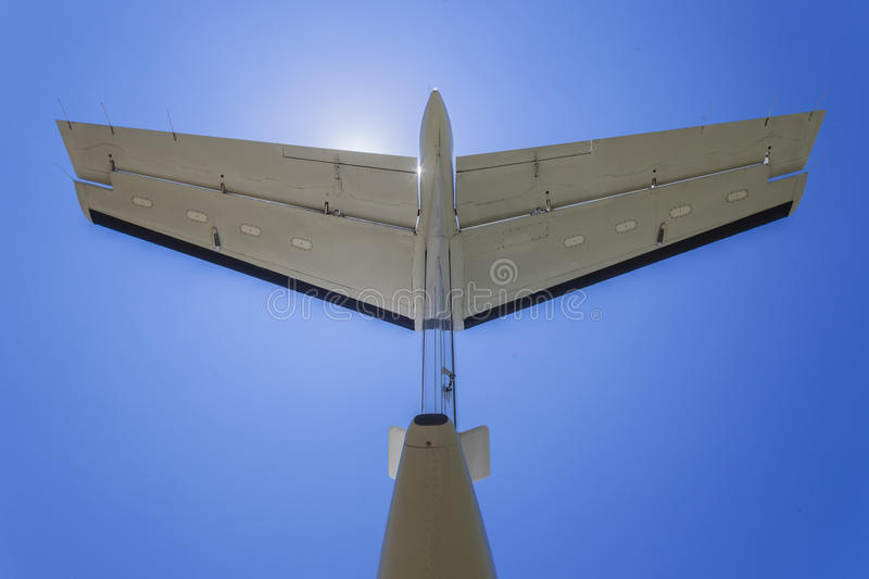 Light Aircraft Tail Blue Royalty Free Stock Images