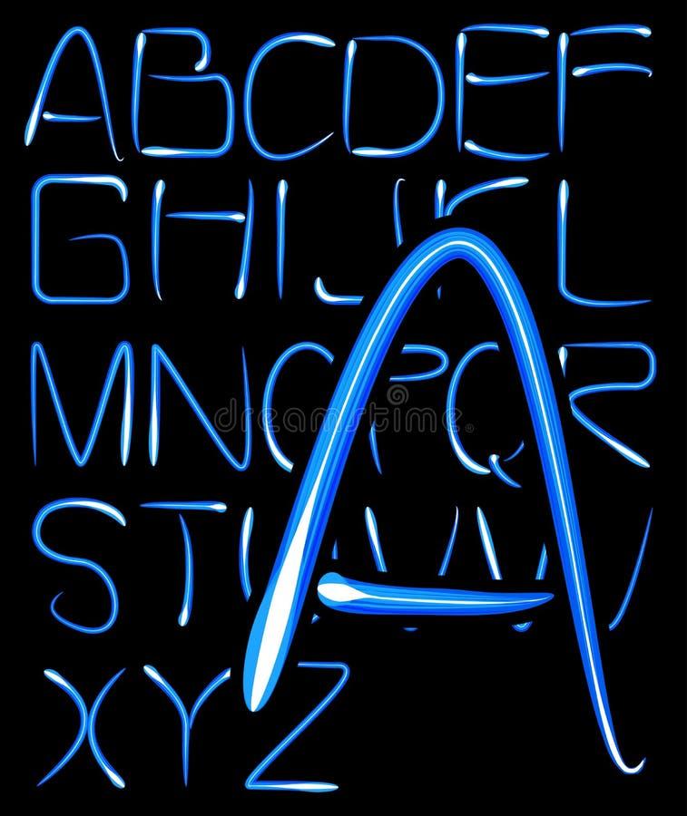 Light alphabet royalty free illustration