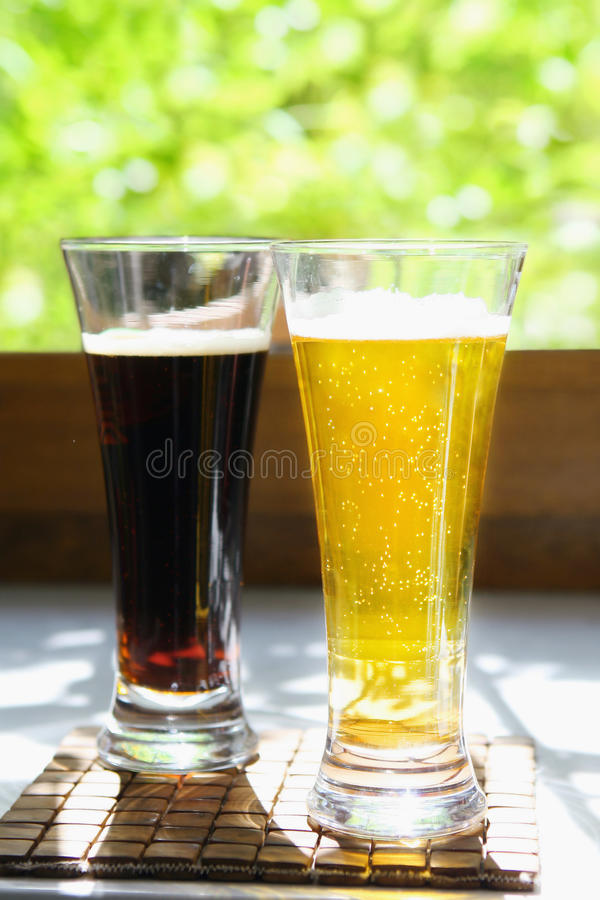 Free Light And Dark Beer Stock Photography - 14872262