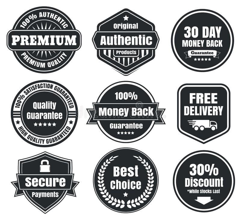 Free Light And Dark Vintage Ecommerce Badges Stock Photo - 37394150