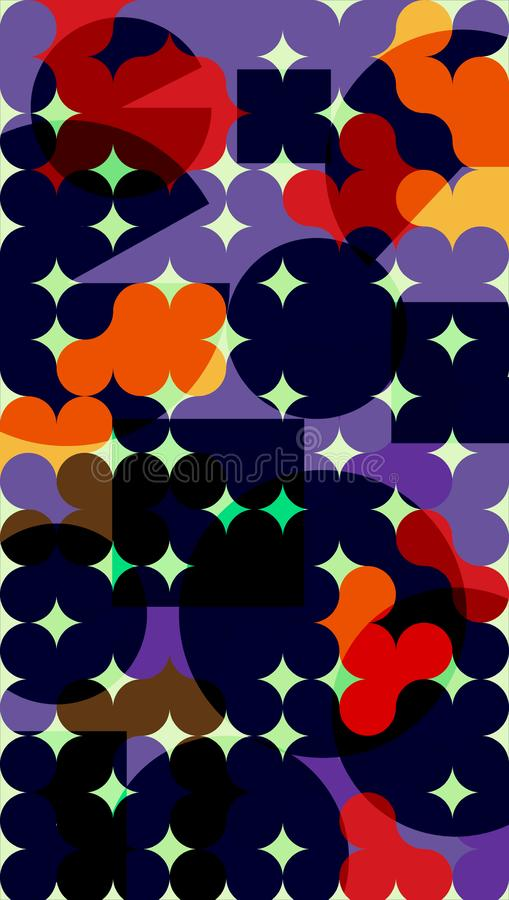 Light background for basic. Abstract background of round elements. Dark and red stock illustration