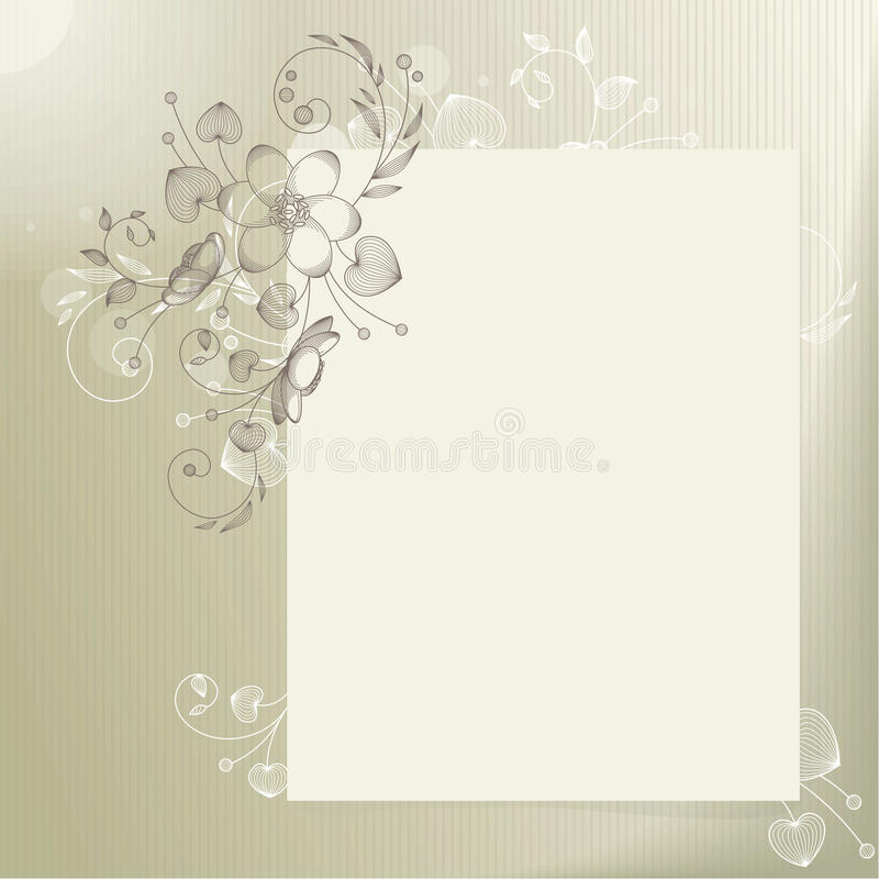 Light Background With Flower Stock Photography