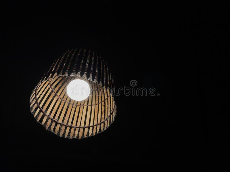 the light from the bamboo lanterns gives the light like an