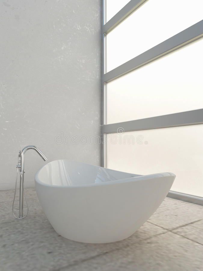 Light bathroom interior stock photography