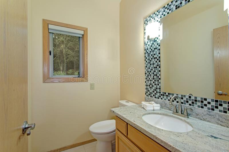 Light Bathroom interior With vanity cabinet stock images