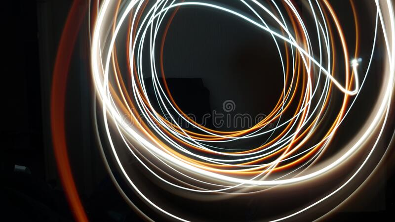 Light beam abstraction stock photo