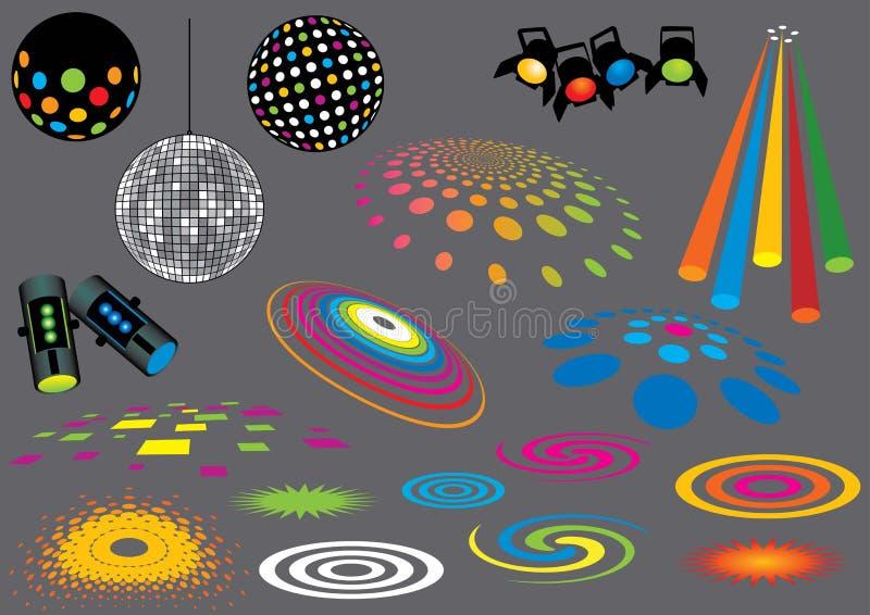 Light Beams vector illustration