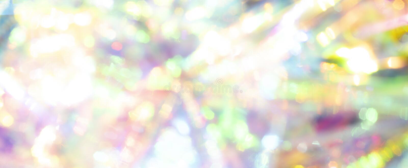 Light and beautiful blurred abstract holographic background. royalty free stock image