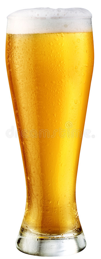 Light beer. Object on a white background stock photo