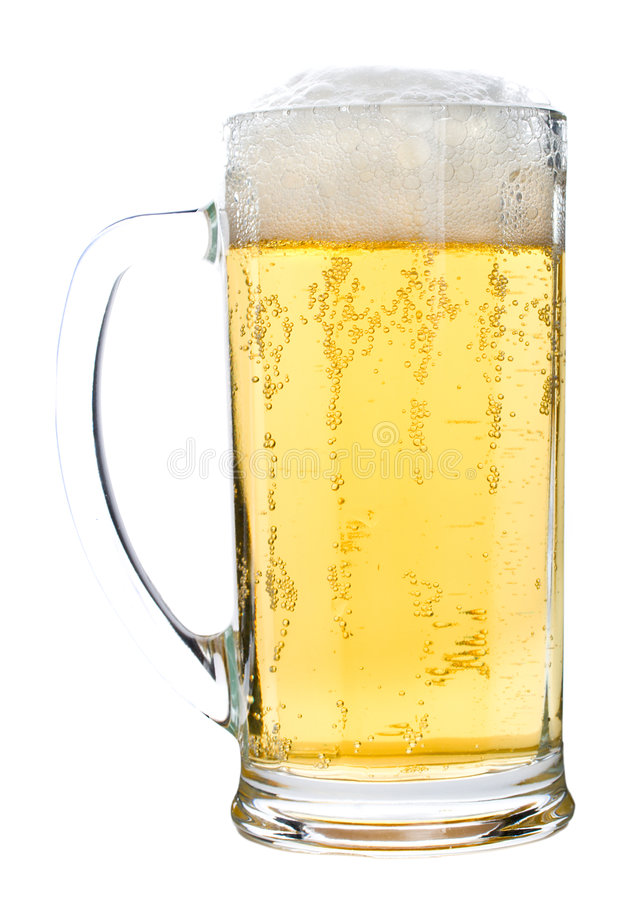 Free Light Beer Glass With Foam Stock Photo - 7139940