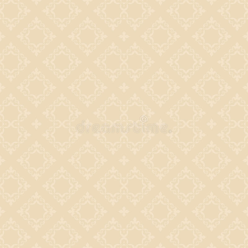 Light beige vector seamless pattern with rhombuses - background stock illustration