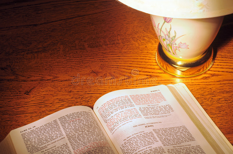 Download Light on the Bible stock image. Image of john, christianity - 6096799