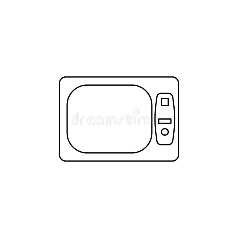 Light black and white TV icon. Element of generation icon for mobile concept and web apps. Thin line icon for website design and. Development, app development vector illustration