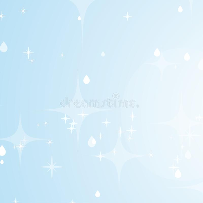 Light blue abstract background with stars and bokeh. Beautiful sky. Simple flat vector illustration.  royalty free illustration