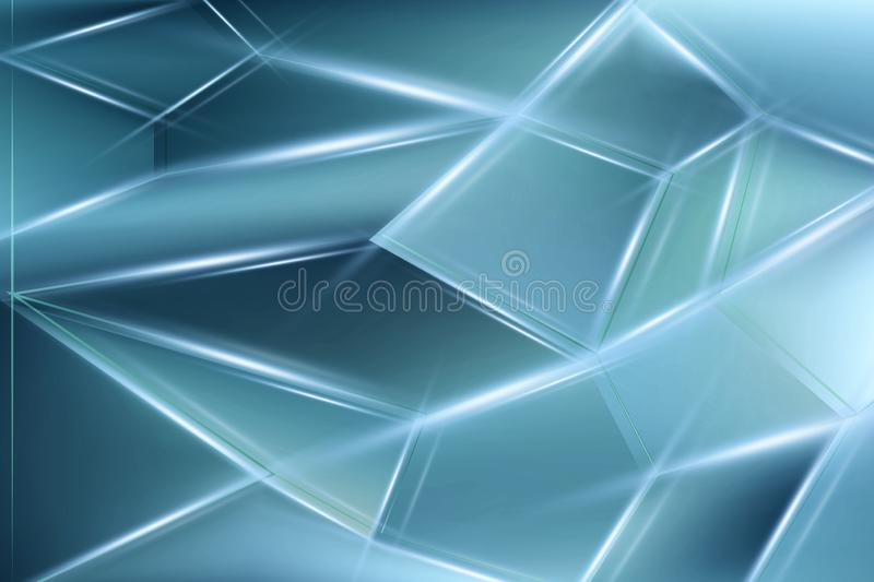 Light blue abstract concept polygonal tech background. Modern backdrop for design vector illustration