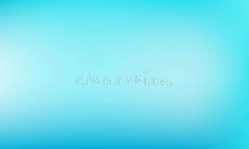 Light blue background. Abstract vector pastel greenish-blue turquoise color backdrop stock illustration