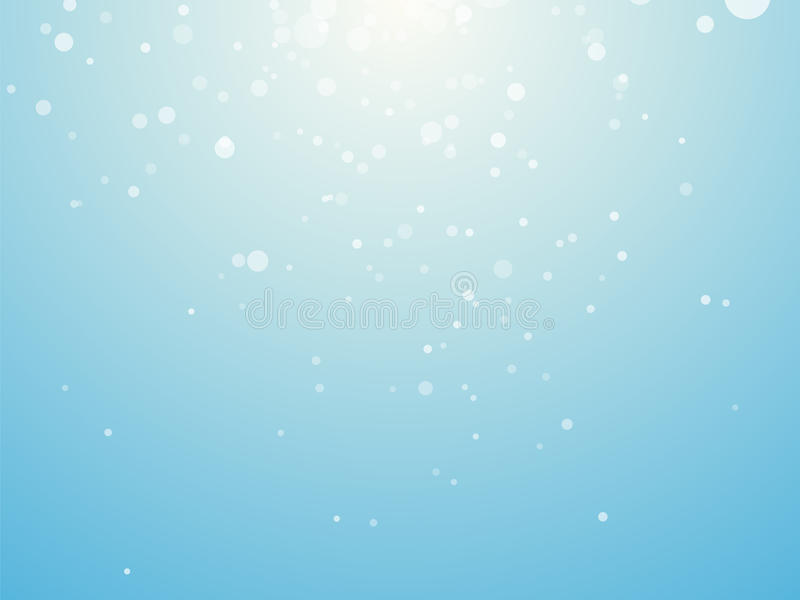 Light blue background with snowflakes royalty free illustration