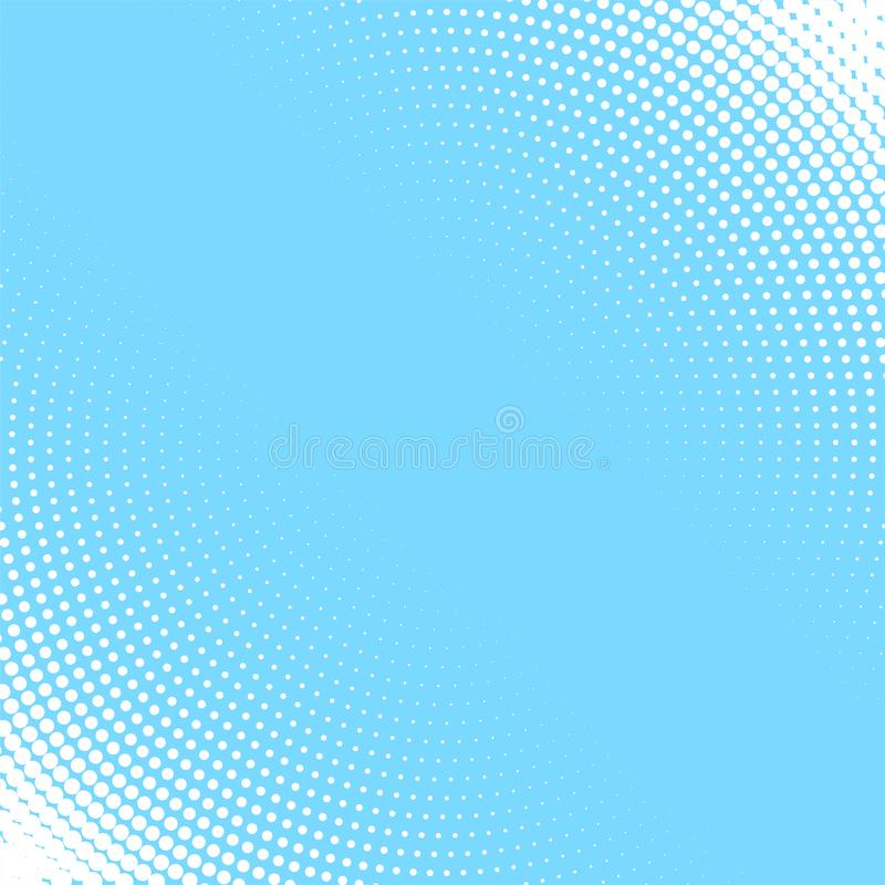 Light blue background with white circular halftone pattern vector illustration