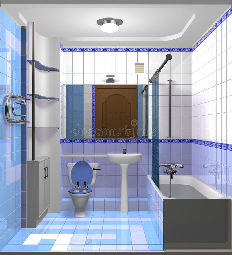 Light blue bath room